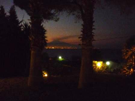 view at night of the Etna volcano